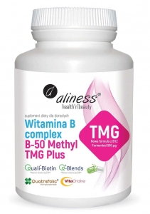 ALINESS Witamina B Complex B-50 Methyl TMG Plus 100 kaps.