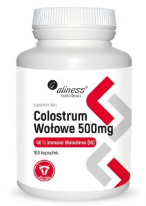ALINESS Colostrum Wołowe 40% IG 500 mg 100 kaps.